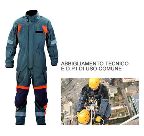 Abbigliamento tecnico e D.P.I di uso comune